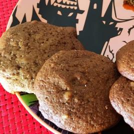 Cookies de abóbora com nozes