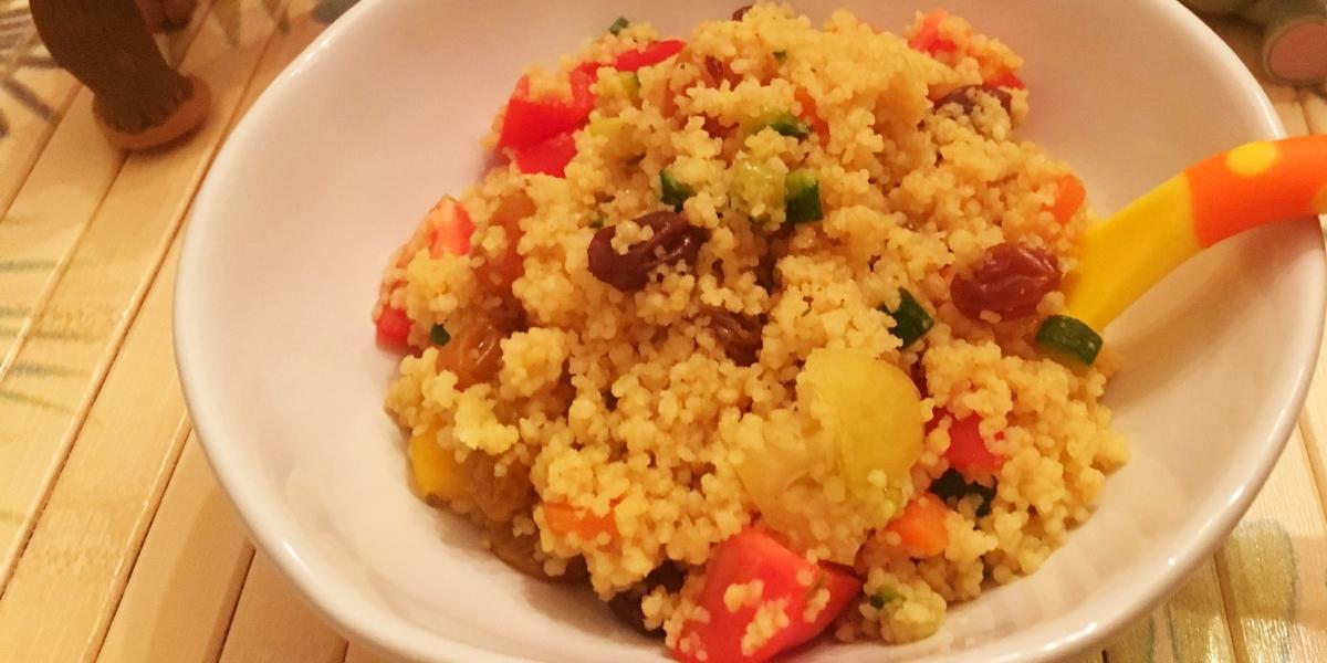 Couscous marroquino colorido